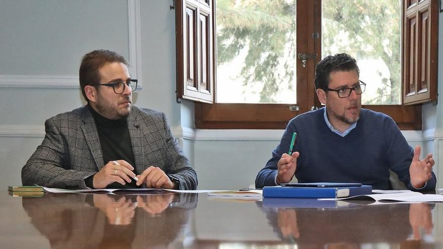 Adrián Ballester y Javier Gutiérrez, portavoces del PP y Cs en la Diputación de Alicante