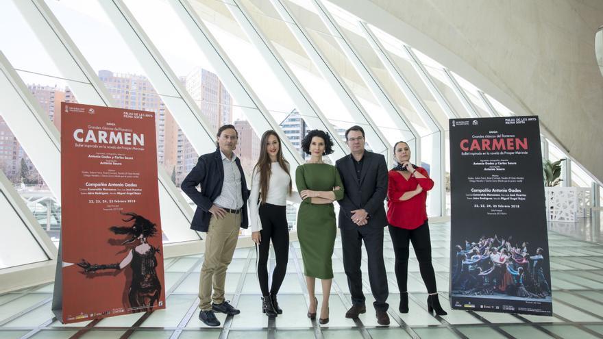 Presentación de 'Carmen' en el Palau de les Arts