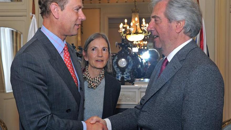 El príncipe Eduardo del Inglaterra se reunió con Tabaré Vázquez en Uruguay