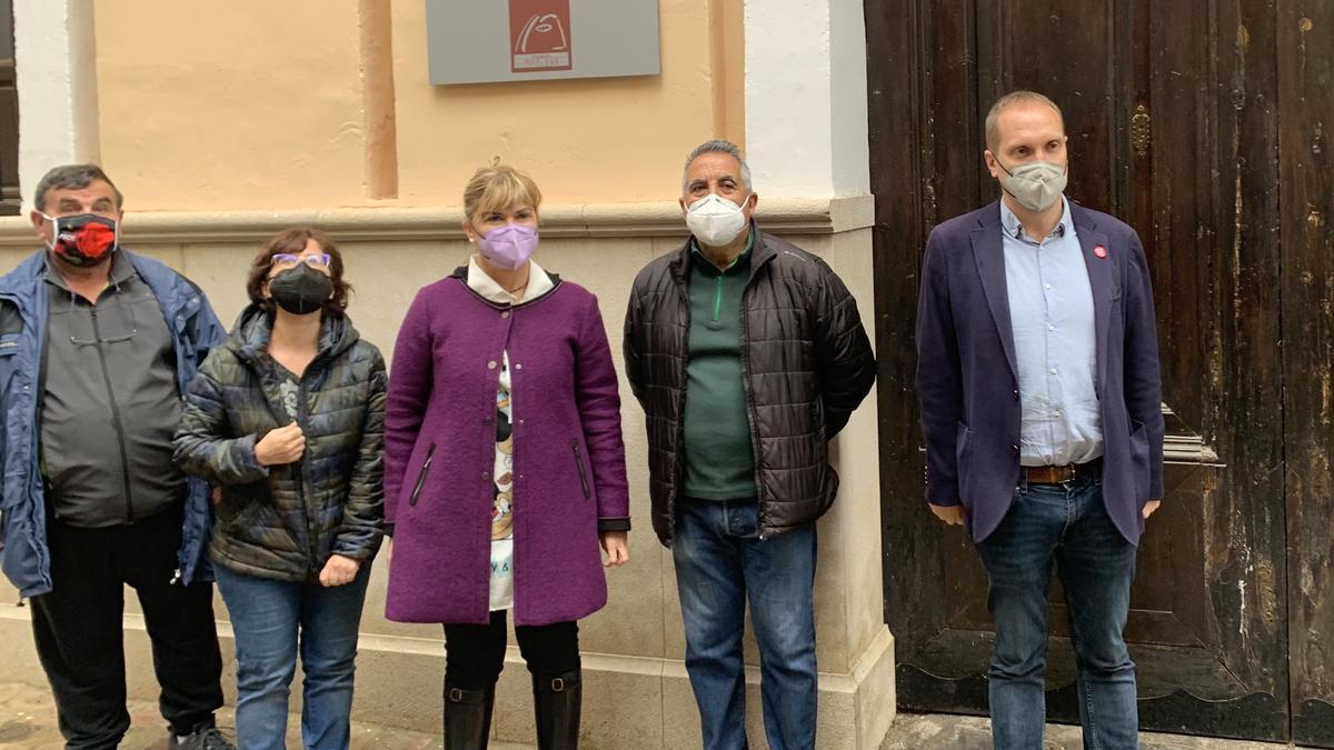 Els representants socialistes a Segorb.