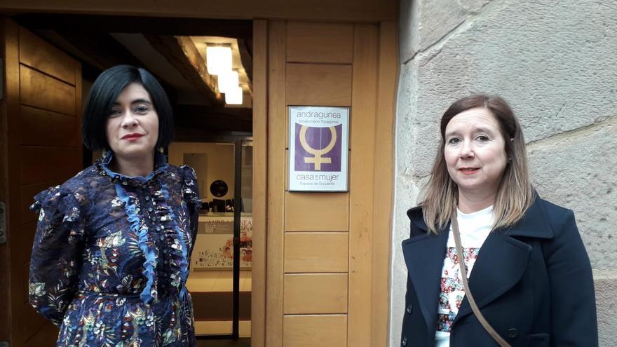 Pilar Ríos e Idoia Agorria en el Andragune de Durango