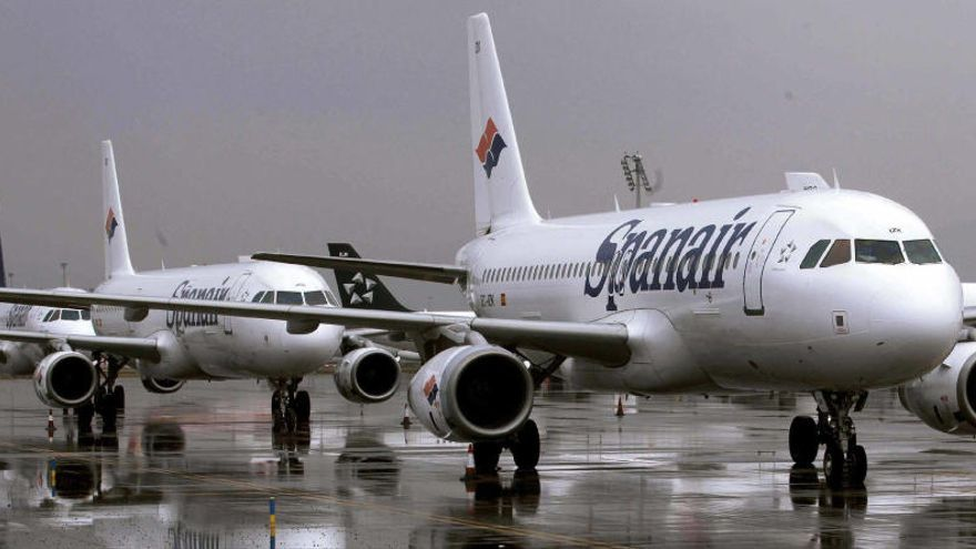 Aviones de la compañía Spanair.