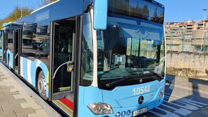 Uno de los nuevos autobuses híbridos