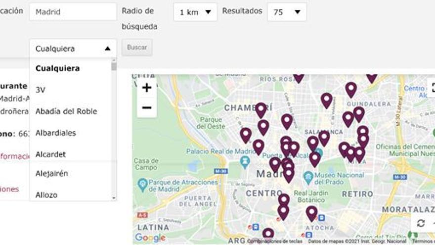Nace un mapa digital para poder localizar restaurantes que tiene en sus cartas vinos DO La Mancha