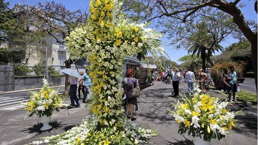Celebración de Las Cruzces en Tenerife en la pasada edición (Ayuntamiento de Santa Cruz de Tenerife)