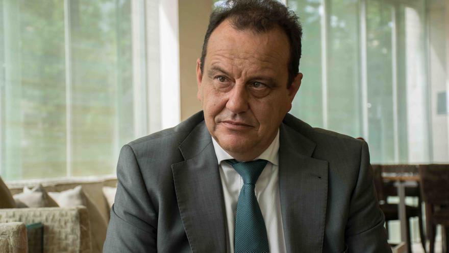 El fiscal del caso Nóos, Pedro Horrach, en un momento de esta entrevista.