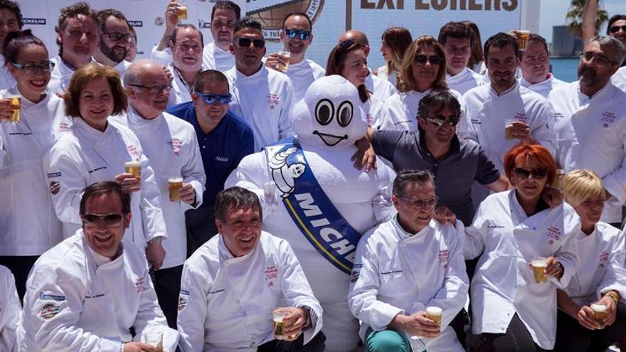 Presentación de la Guía Michelin 2017, con varias caras conocidas de la alta cocina