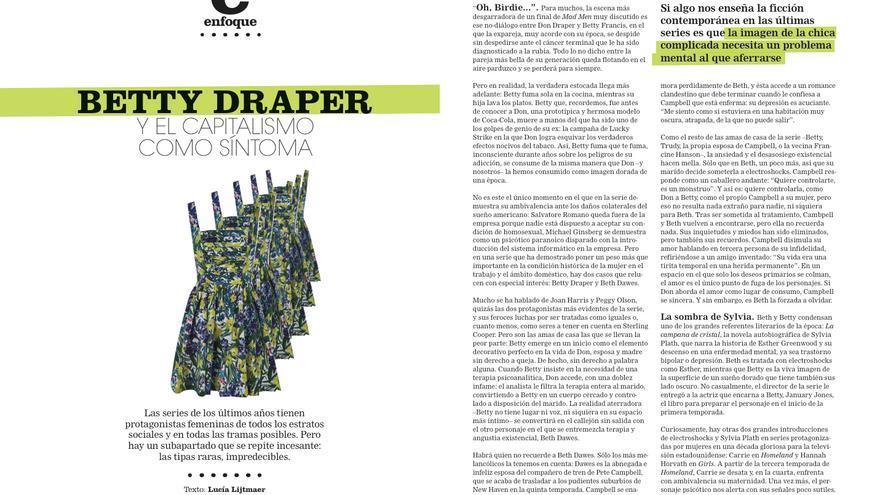 'Betty Draper y el capitalismo como síntoma', por Lucía Lijtmaer