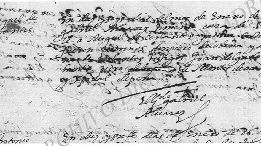 Constancia documental del enlace entre Cervantes y Catalina de Salazar / Ayuntamiento
