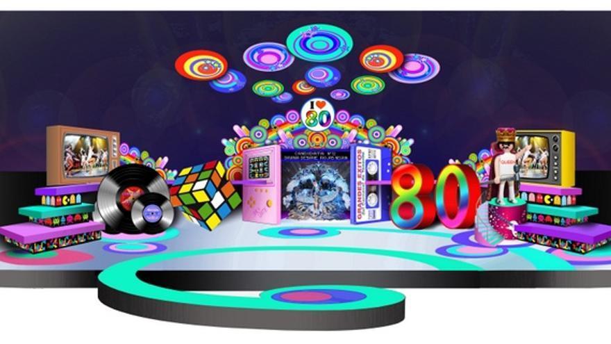 Escenario diseñado por Carlos Sáenz para el Carnaval de Santa Cruz de Tenerife