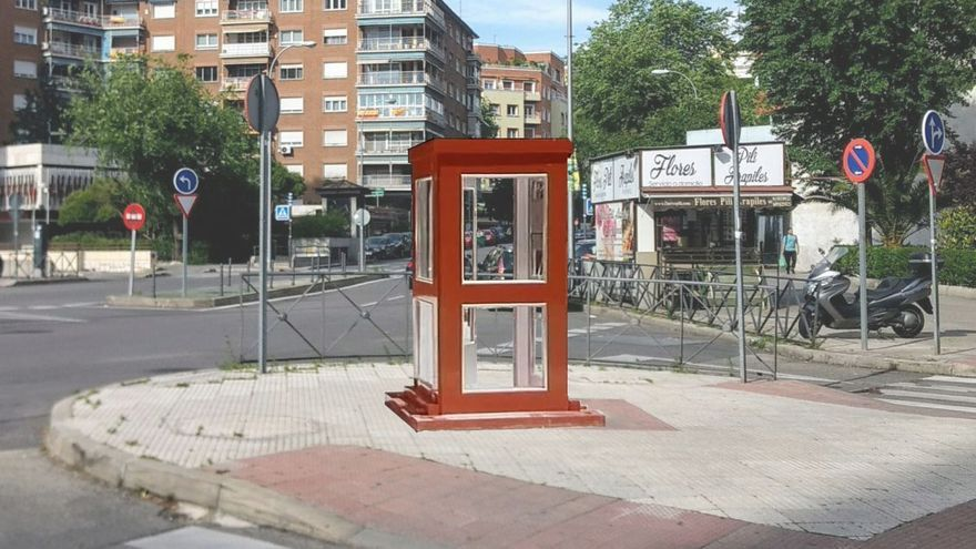 Recreación de la cabina-homenaje a Mercero, en un punto de Conde de Valle de Suchil (no definitivo) | SOMOS CHAMBERÍ