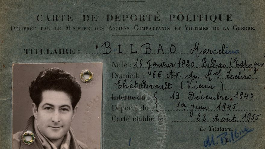 'Carte de deporté politique' de Marcelino Bilbao, el combatiente republicano español que sobrevivió a Mauthausen. | ARCHIVO MARCELINO BILBAO