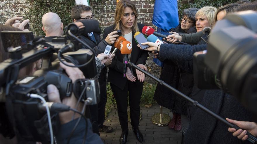 """Susana Díaz dice que Rajoy tiene la responsabilidad de que """"salgan las cuentas"""" para la financiación, tras el cupo vasco"""