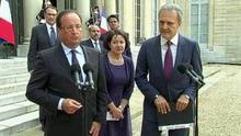 El presidente francés François Hollande y el príncipe Saud Al-Faisal, ministro de Exteriores saudí en París, esta semana (Al Arabiya)