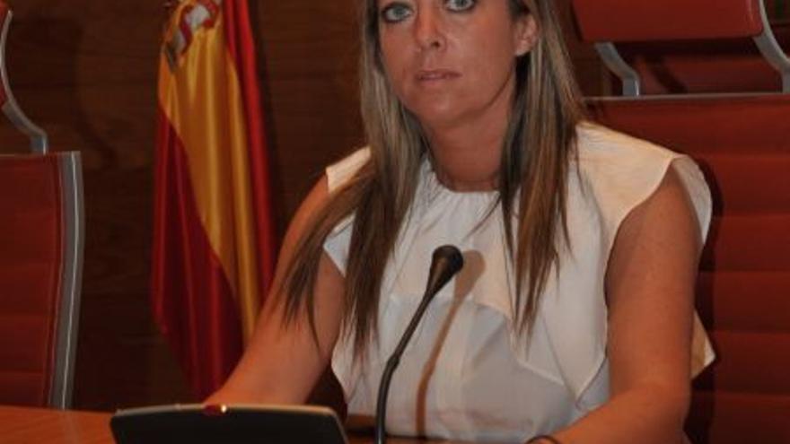 María de Haro en una intervención en el Senado.