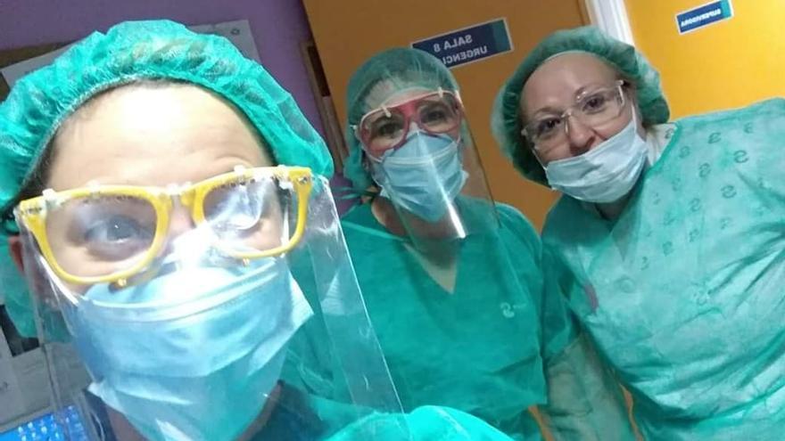 Una gafas 'falsas' como protección en el Hospital de Guadalajara