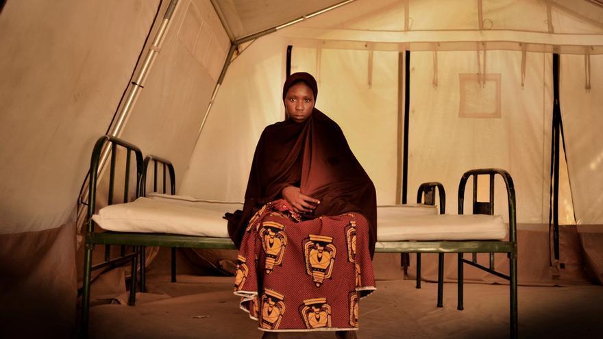 Yafana Modu En el centro de nutrición terapéutica de Médicos Sin Fronteras (MSF) en Fori.