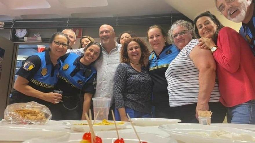La jefa de la Policía Local de Santa Cruz de Tenerife, comisaria Carmen Delia González, durante el acto de homenaje de la pasada semana
