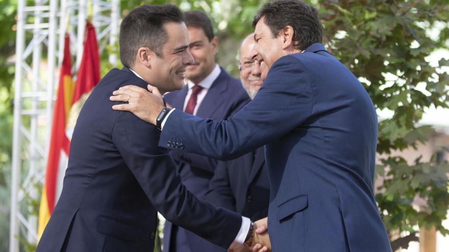 Francisco Igea durante la toma de posesión del secretario general de Transparencia.
