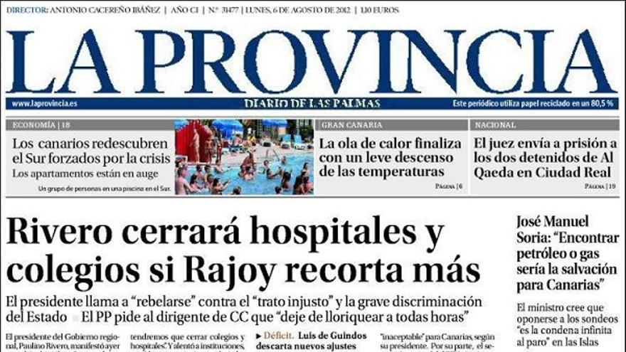 De las portadas del día (06/08/2012) #1