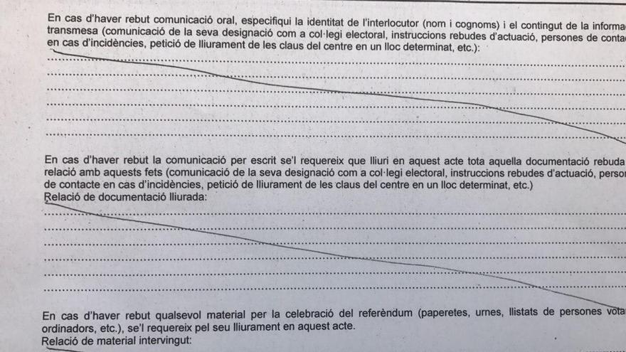 Documento que los Mossos han entregado a directores de instituto