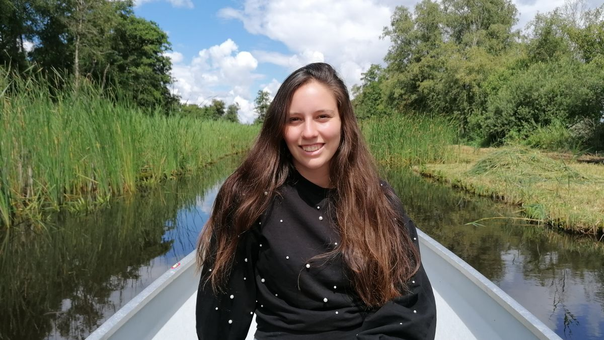 La estudiante Cristina Boers en Amsterdam en una foto cedida por ella.