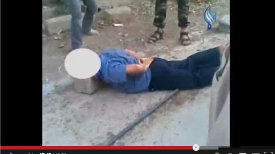 Caputra de pantalla del vídeo difundido por Sama TV
