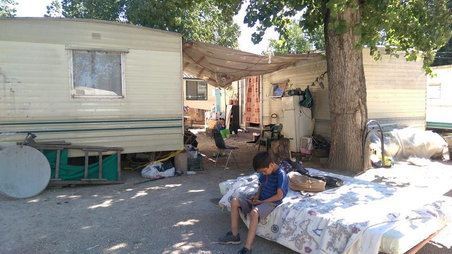 Imagen del campamento en el camping River Village, a las afueras de Roma.