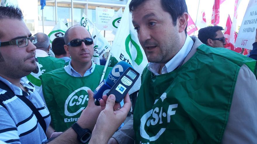 Benito Román, presidente del sindicato CSI-F en Extremadura