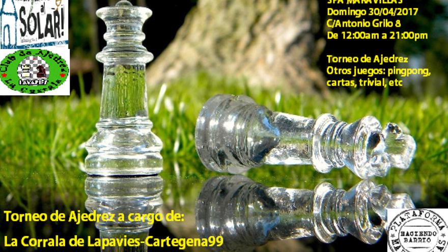 Cartel del torneo de ajedrez por las Fiestas del 2 de mayo