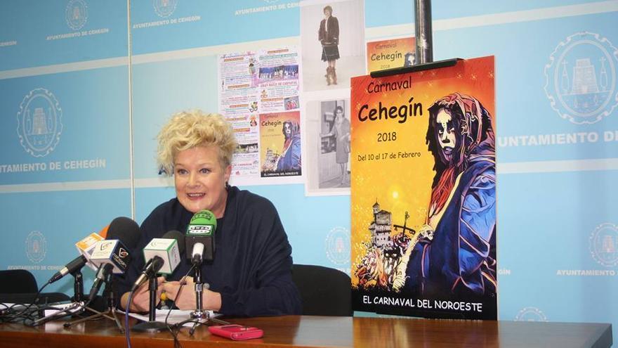 La Concejala de Festejos del Ayuntamiento de Cehegín, Ana María Molina.