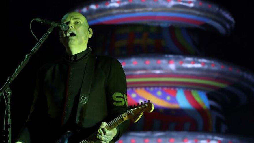Billy Corgan durante el concierto con los Smashing Pumpkins en el Mad Cool 2019