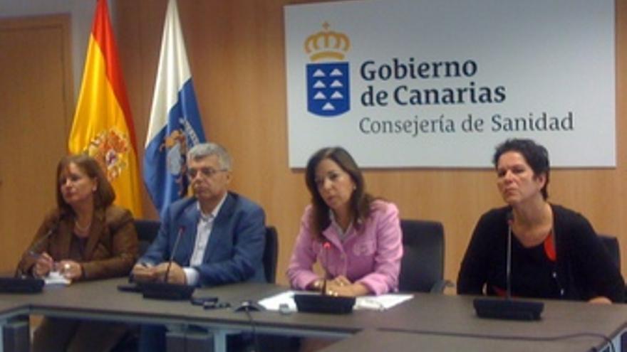 Rueda de prensa celebrada este jueves en la capital grancanaria. (MIRIAM SUÁREZ)