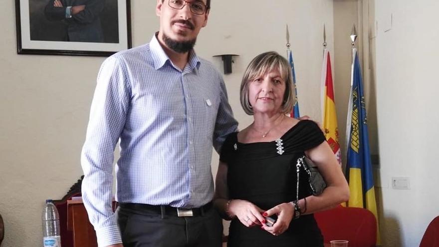 Los concejales del PP en Moixent Óscar Vaquerizo y María Teresa Olmo
