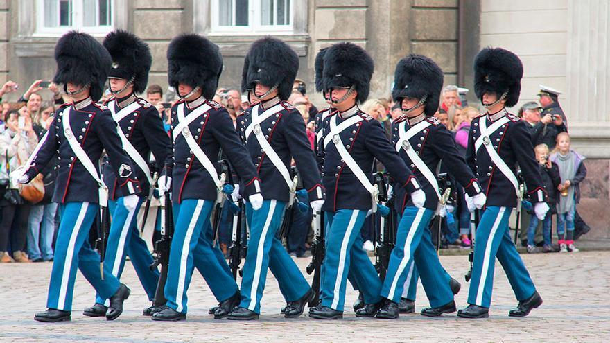 Copenhague, Cambio de guardia de AMALIENBORG