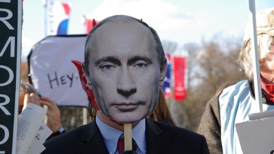 Protestas en Hannover contra la visita a Rusia de Putin en mayo de 2013. Copyright: Amnistía Internacional Alemania