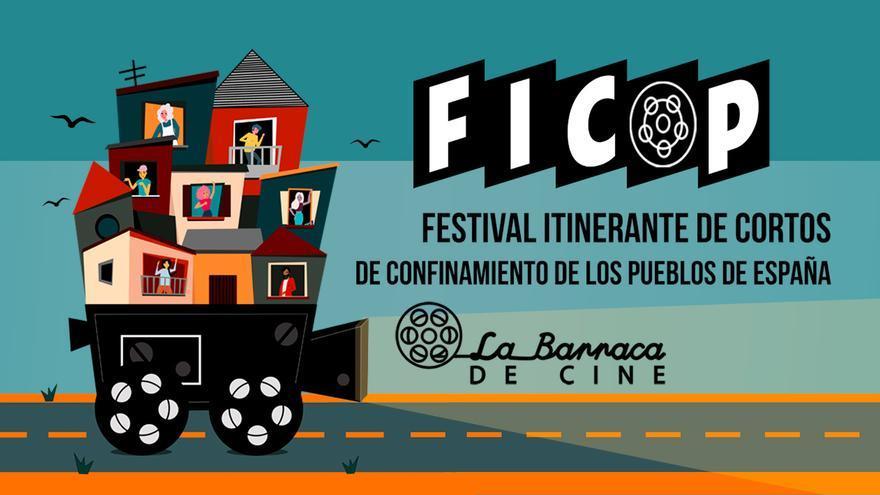 Cartel del Festival de Cine del Confinamiento de los Pueblos de España