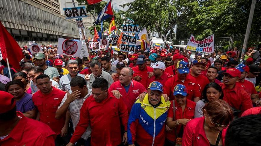 """El chavismo emprende otra """"marcha antiimperialista"""" en Caracas contra Trump"""