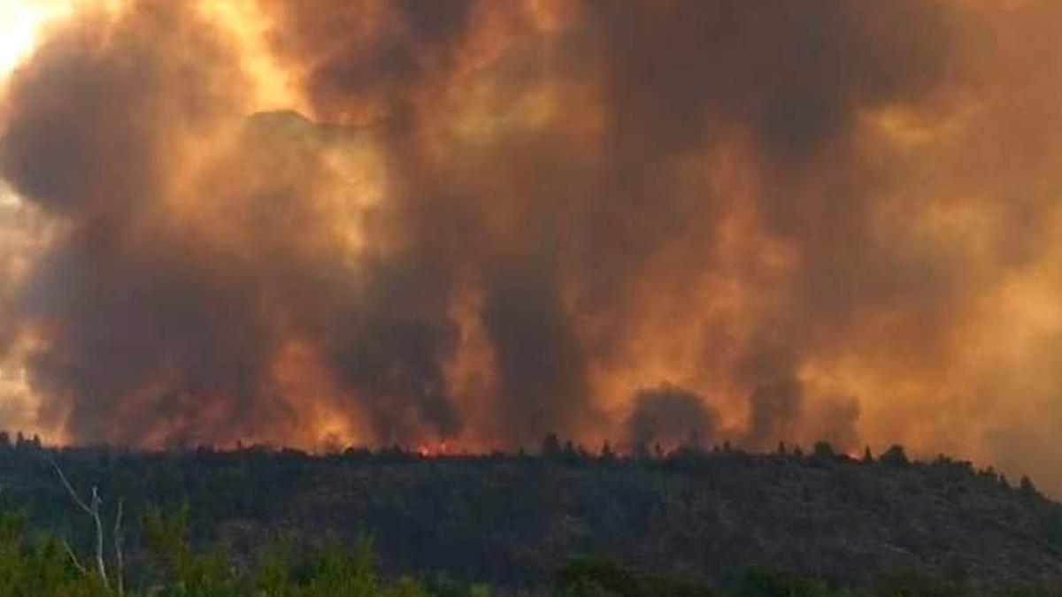 El fuego se reavivó debido a las altas temperaturas.