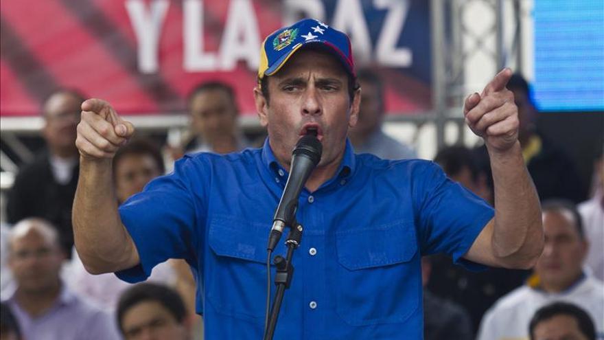 """Capriles dice que la militarización de la seguridad en Caracas será un """"fracaso más"""""""