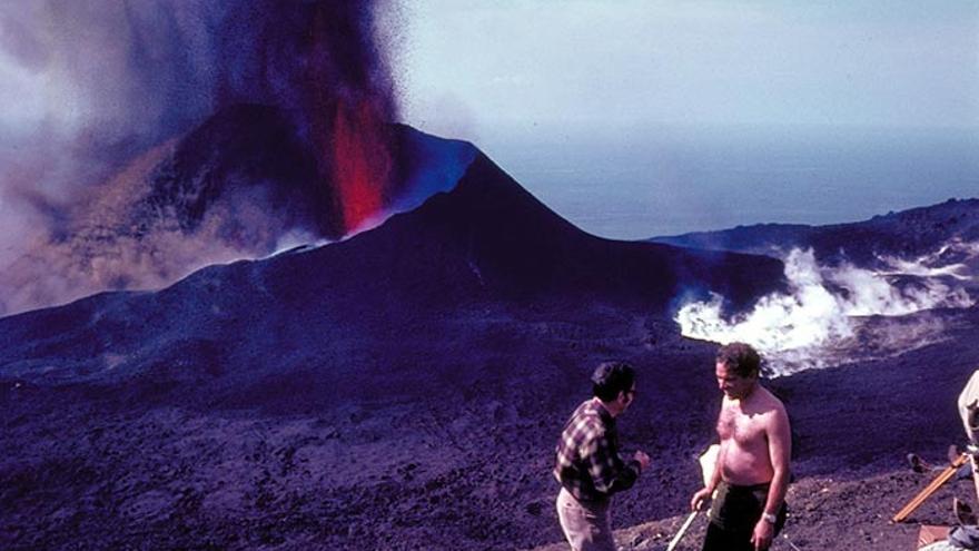 Erupción del Teneguía, en 1971