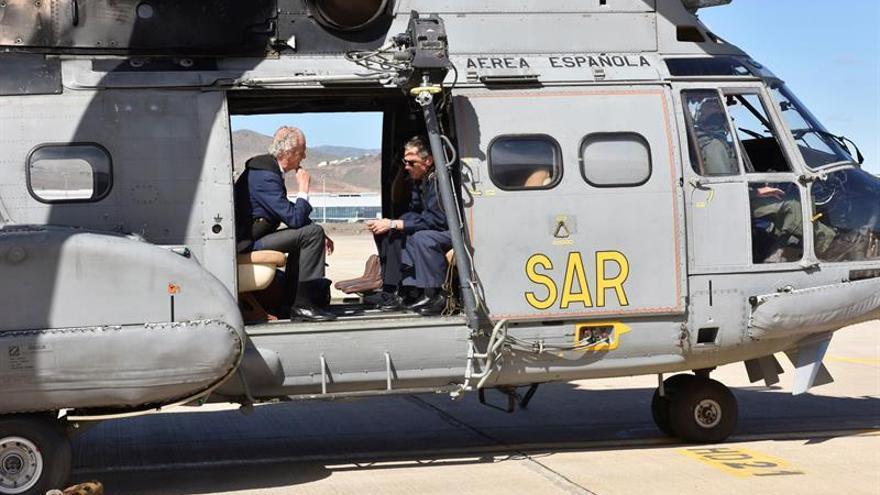El ministro de Defensa, Pedro Morenés, en Las Palmas de Gran Canarias. EFE/Ministerio de Defensa