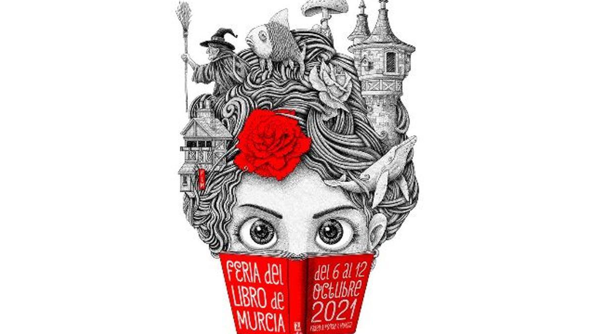 Cartel de la Feria del Libro de Murcia 2021