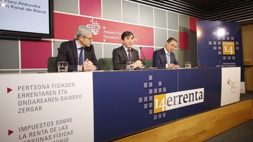 Álava prevé devolver 133 millones de euros en el IRPF a partir del 1 de abril