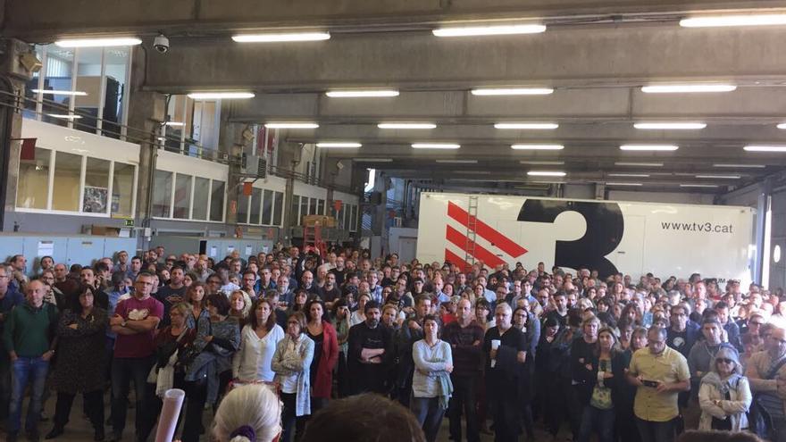 Asamblea de trabajadores de TV3 para abordar el 155