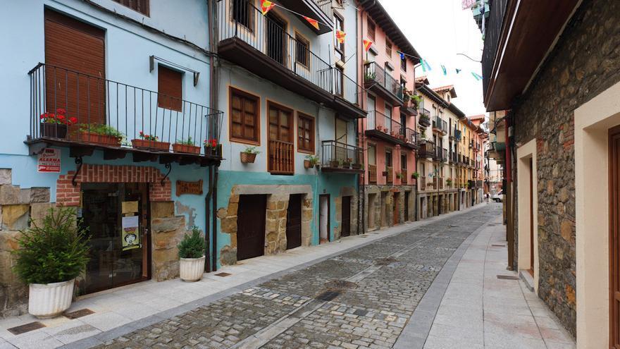 Calles de la Puebla Vieja de Laredo.