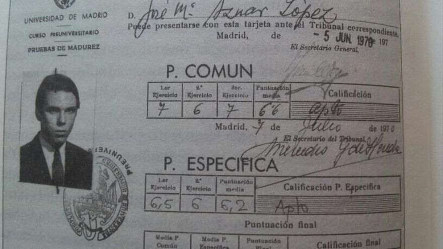 Calificaciones de José María Aznar publicadas en su libro de memorias / Captura de @rubenlodi
