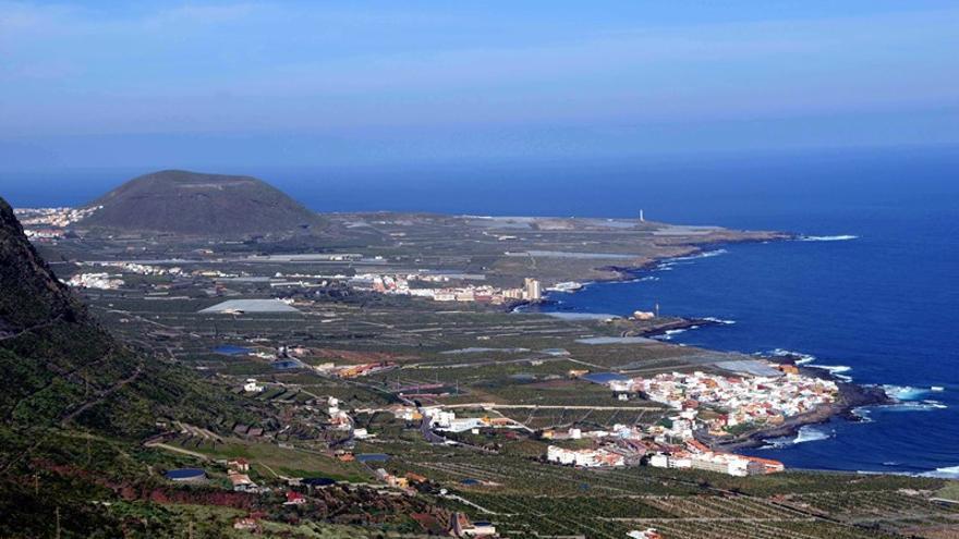 Vista parcial de la comarca de la Isla Baja, con el término municipal de Los Silos
