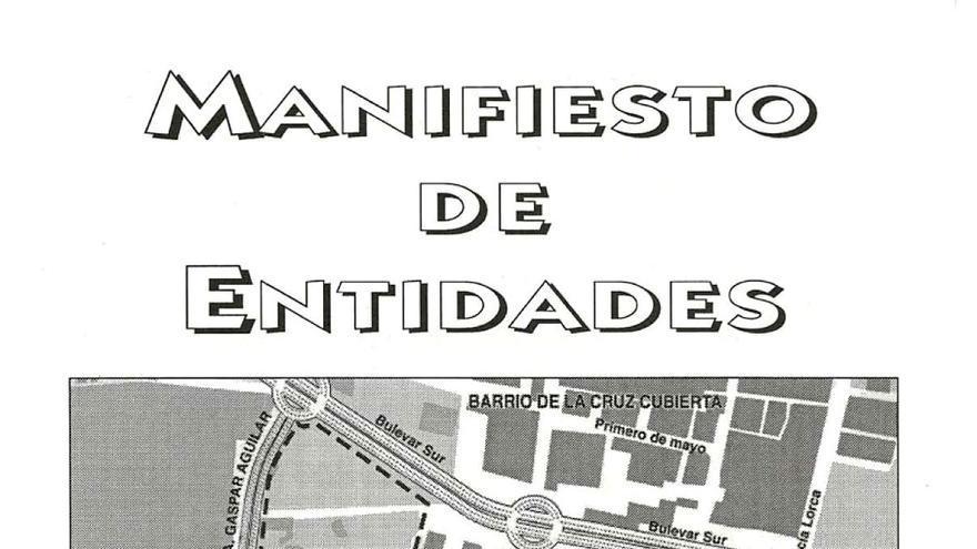 Manifesto de entidades.