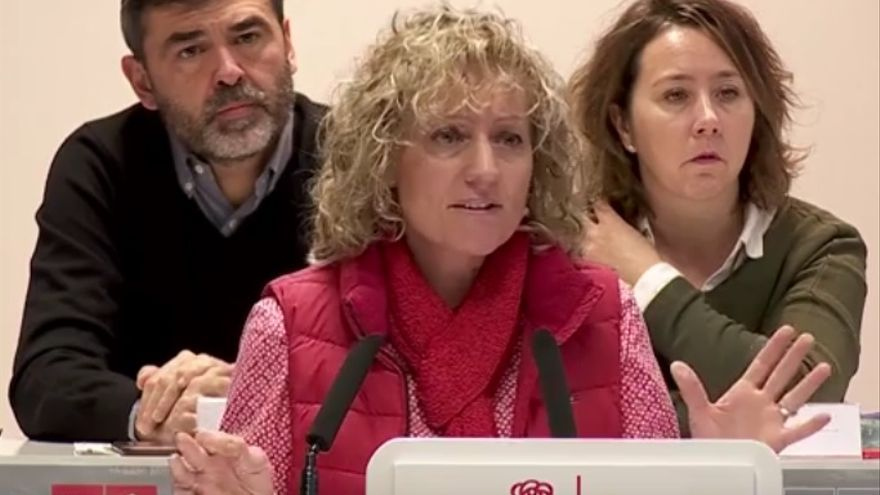 Eva Díaz Tezanos durante su intervención en el Comité Regional del PSOE de Cantabria.
